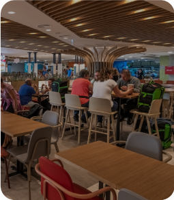 No more queues to order. Offer your customers the chance to order their meal from their seat and pick up when it is ready!
